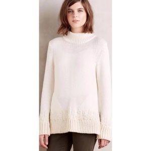 Anthropologie Sleeping On Snow Chunky Sweater Sz M
